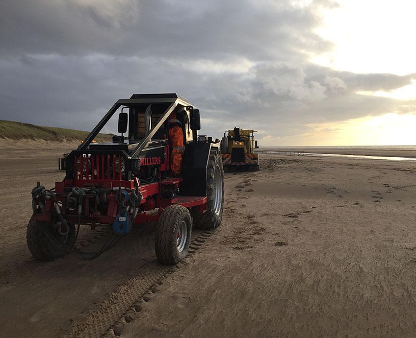 Crane Stuck in Sand